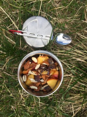 Food Canister in der Wiese